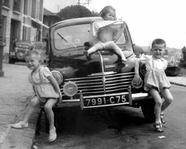 France Gall et ses 2 frères jumeaux
