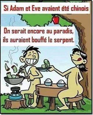 Si Adam et Eve avaient été chinois..