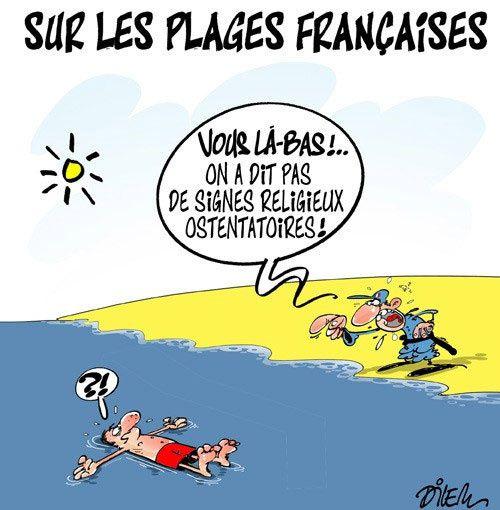 Sur les plages françaises (par Dilem)