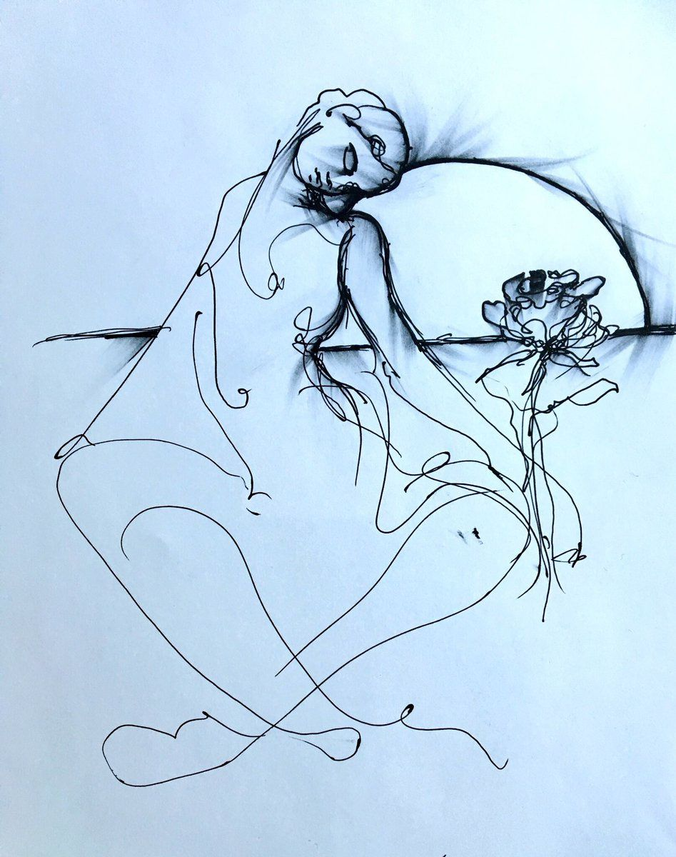 Woman Flower and the Moon  (Lee Zimmerman)