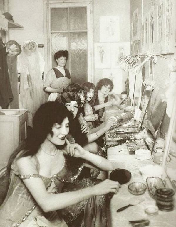Dressing room, Moulin Rouge, Paris 1923