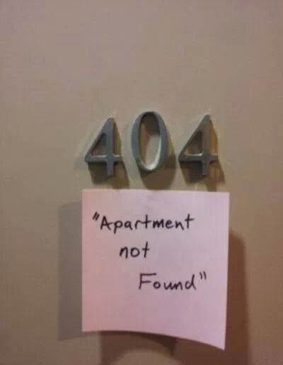 Apartment not found