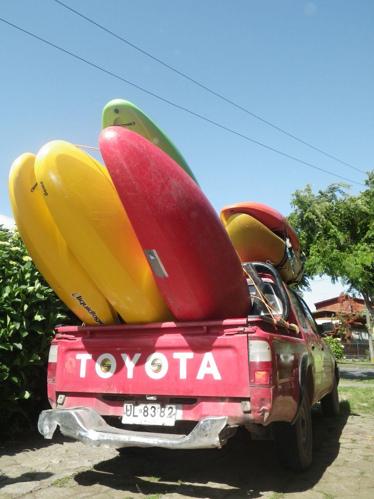 Notre pick up, ultra ecologique avec ses 22L au 100km...