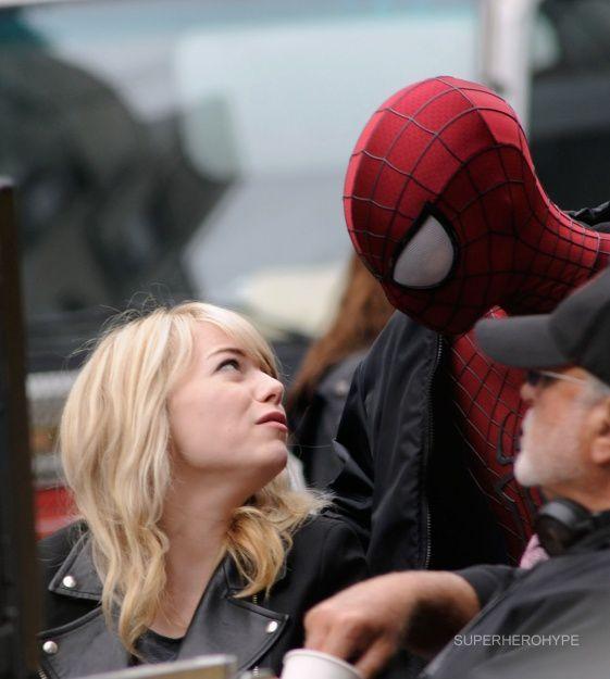 Gwen (Emma Stone) und Peter Parker/Spider-Man (Andrew Garfield)