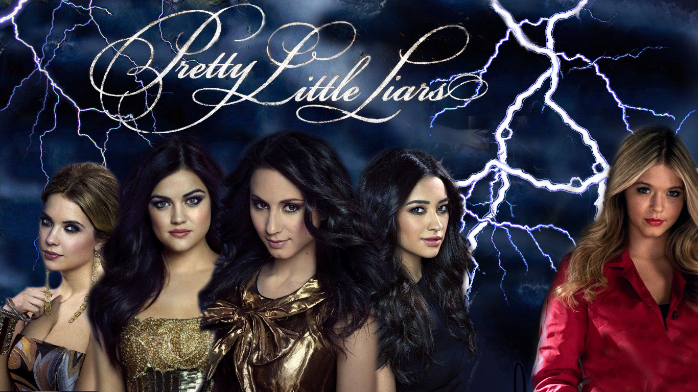 "Die ""Pretty Little Liars"" von Links nach Rechts: Hanna (Ashley Benson), Aria (Lucy Hale) Spencer (Troian Bellisario), Emily (Shay Mitchell) und Alison (Sasha Pieterse)"