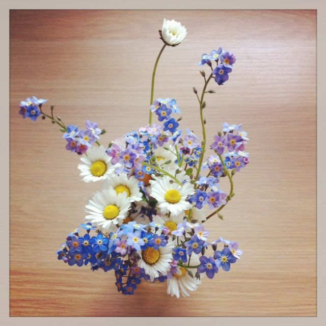 Des fleurs ramassées par mon Loulou