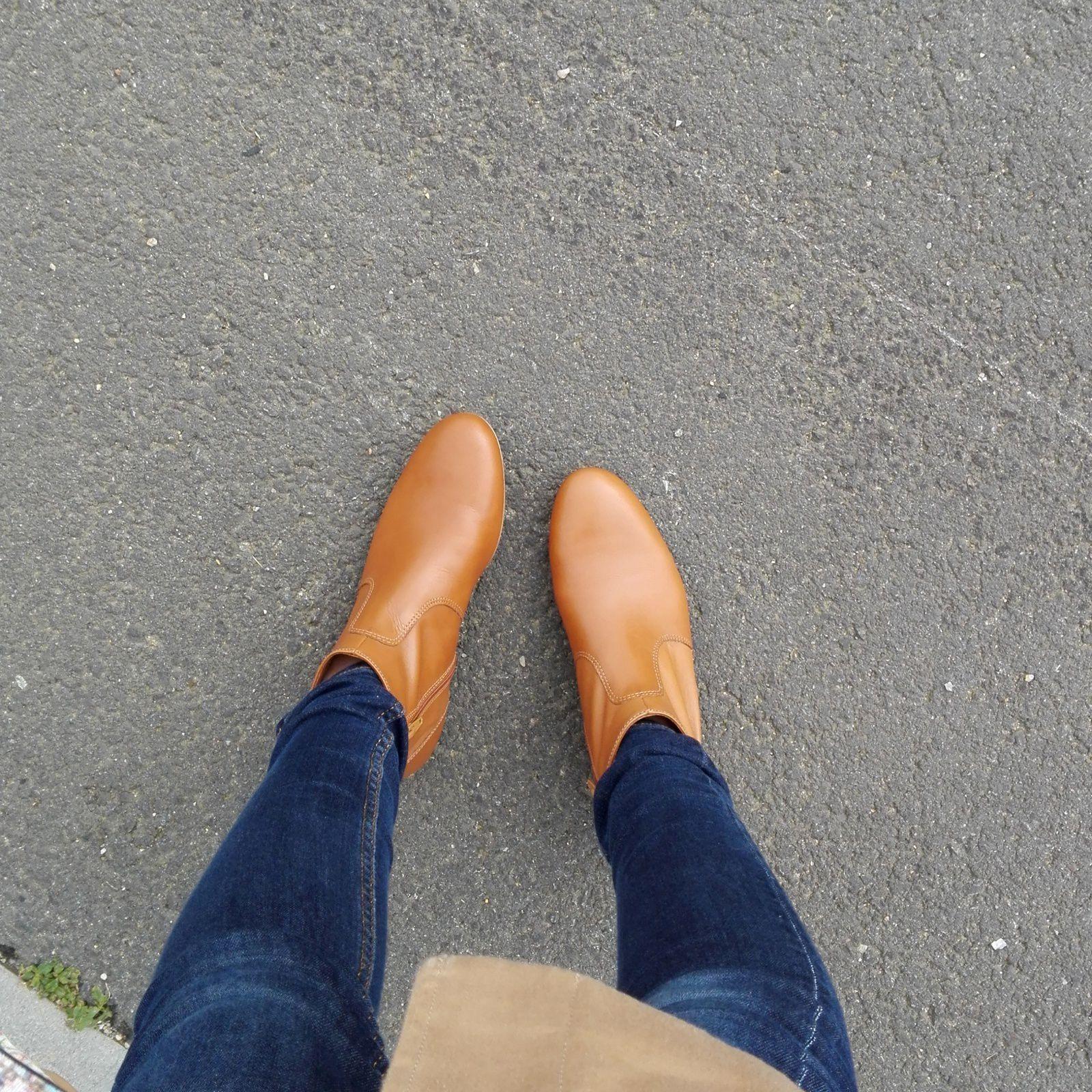 Nouvelles bottines (Minelli), j'aime le mauvais temps pour cela, on peut ressortir les bottines