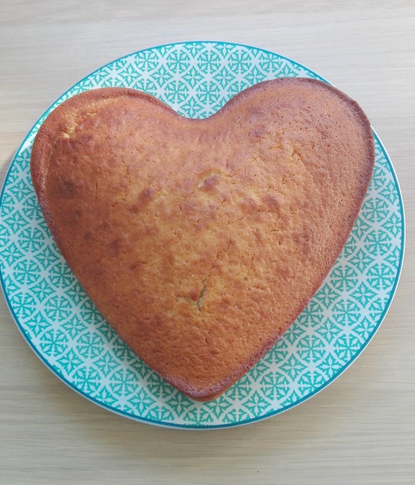 Un gâteau en forme de cœur, forcément la semaine commence bien...