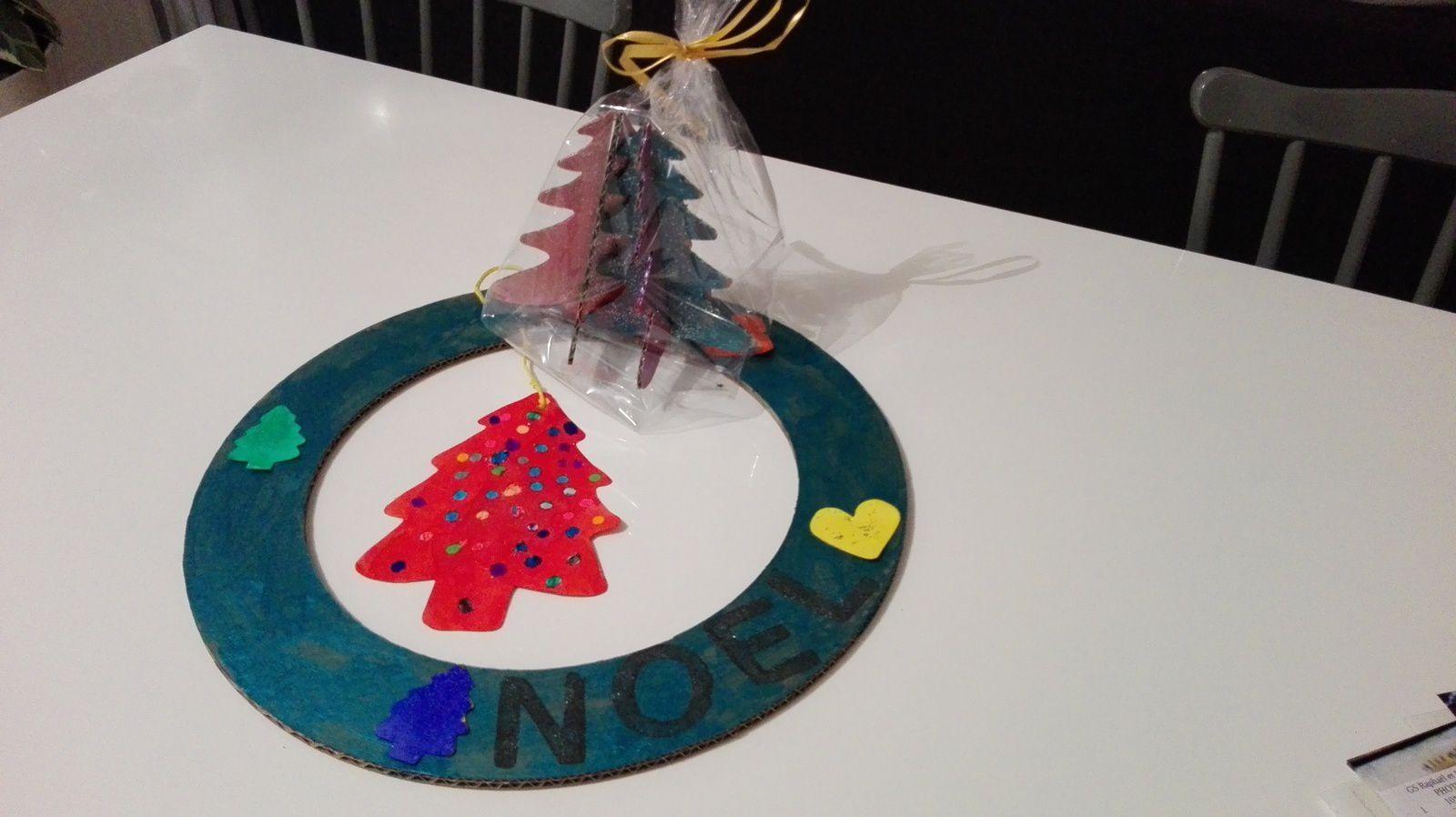 Une partie des cadeaux de Noël réalisé par Loulou à l'école...l'avantage d'avoir un enfant en maternelle!!