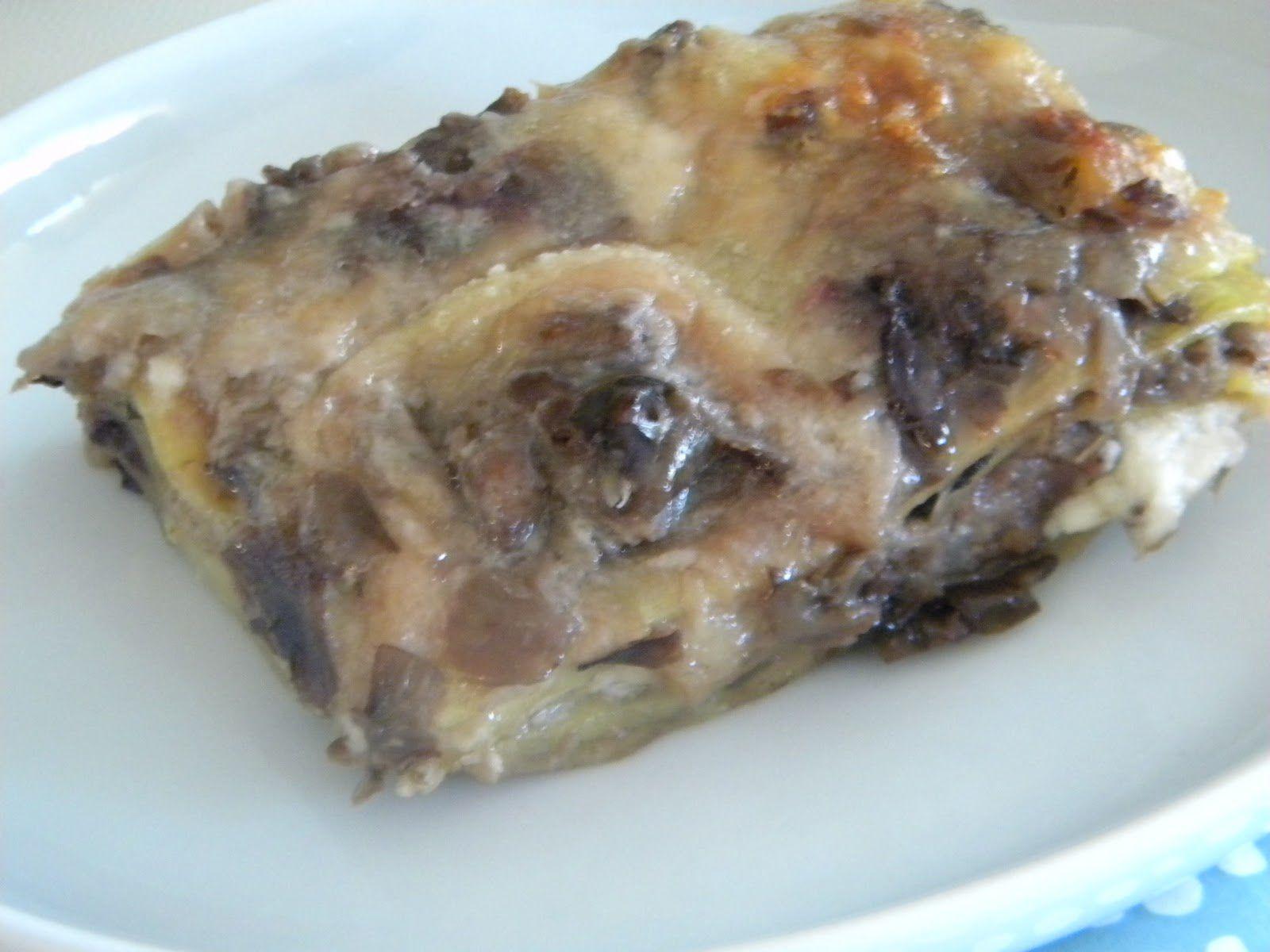 Lasagne con salsiccia e radicchio