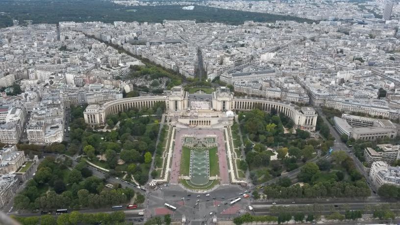 veduta di Parigi dalla Tour Eiffel