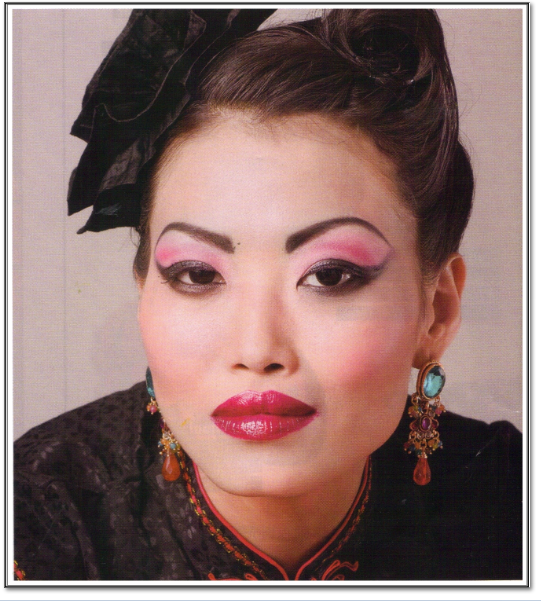 maquillage de femme chinoise