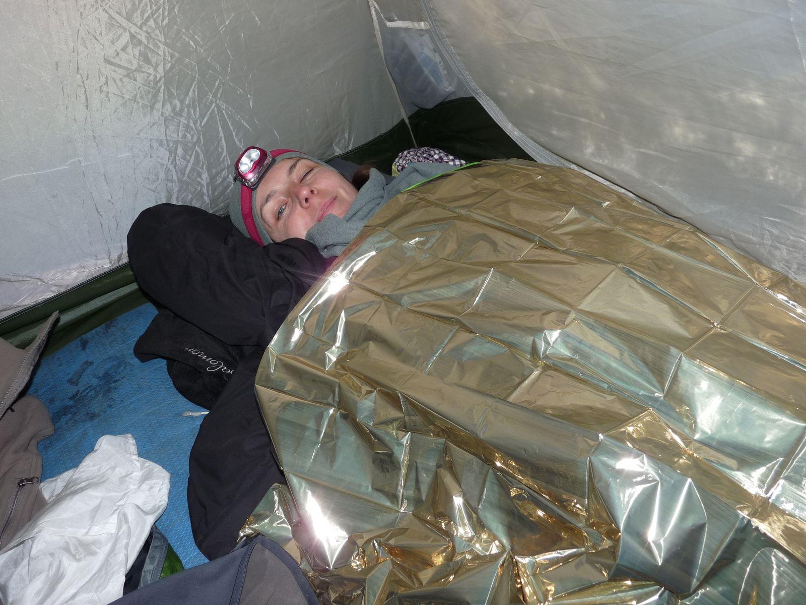 """Camper en montagne avec un sac de couchage marque """"confort 15 degres"""" n'est pas toujours une bonne idee"""