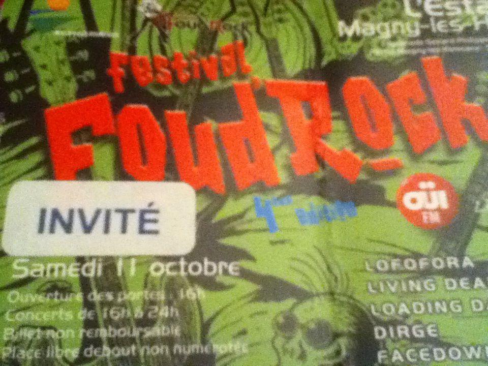 Foud'Rock Festival, 11/10/2014, Magny-les-Hameaux