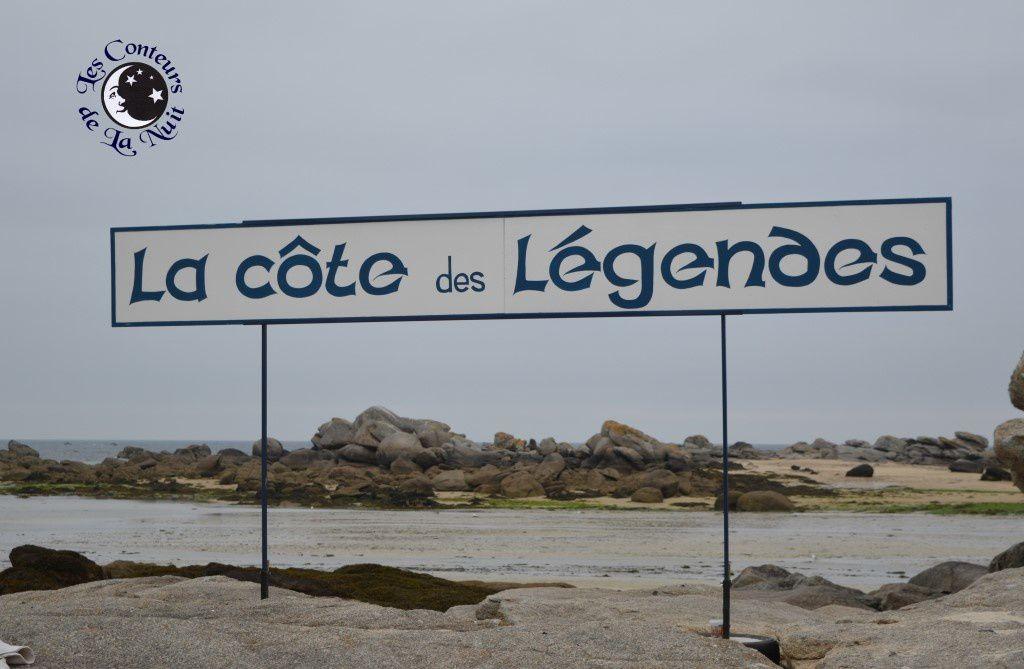 Il s'agissait d'évoquer de façon humoristique l'origine du nom de « la côte des Légendes ».