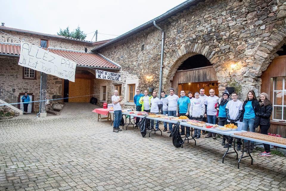 Photo prise sur le net : le lieu du ravito avec les bénévoles
