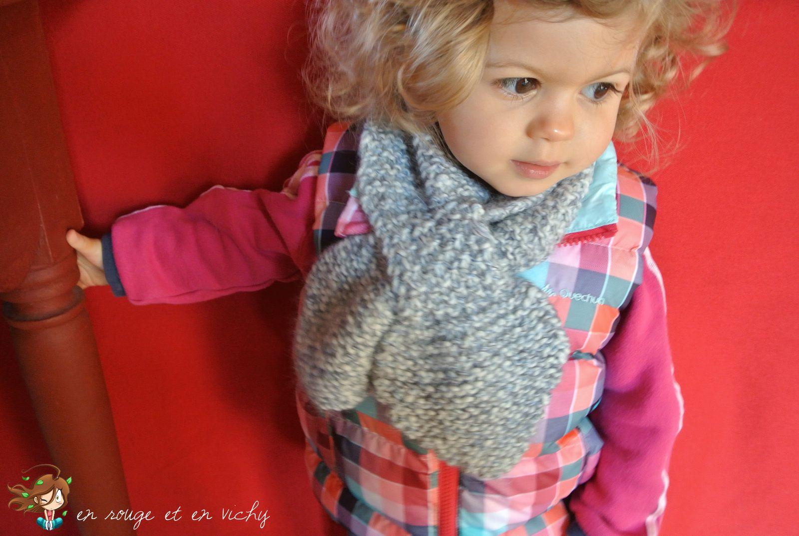 Tricot utile : l'écharpe feuille