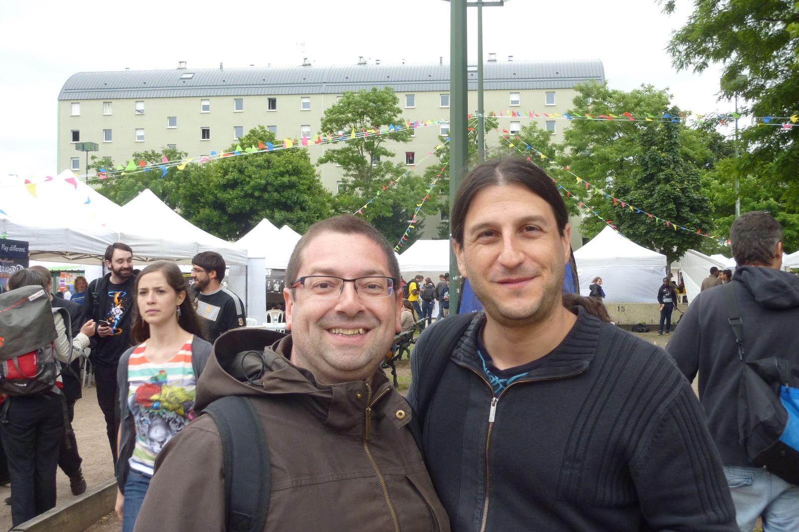 Avec l'un de mes auteurs préférés, Mr Antoine Bauza