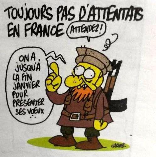 Le dernier dessin prémonitoire de Charb
