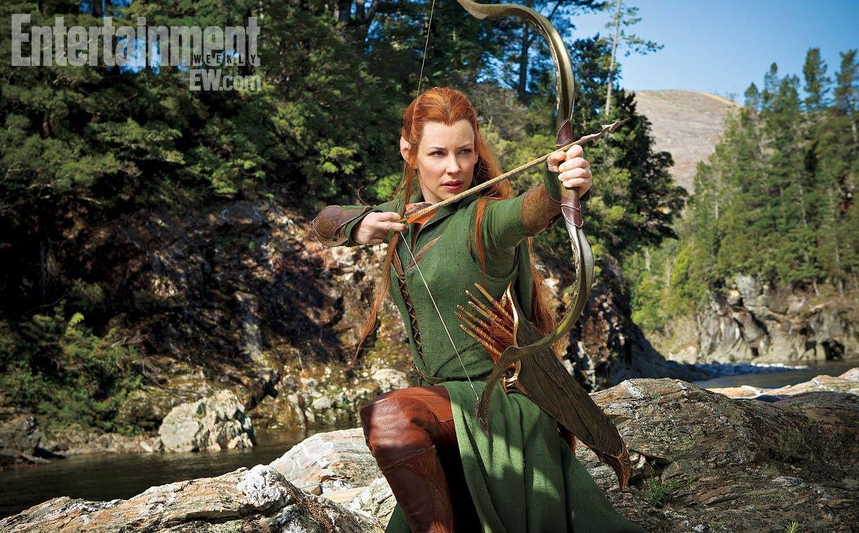 L'elfe Tauriel interprétée par Evangéline Lilly