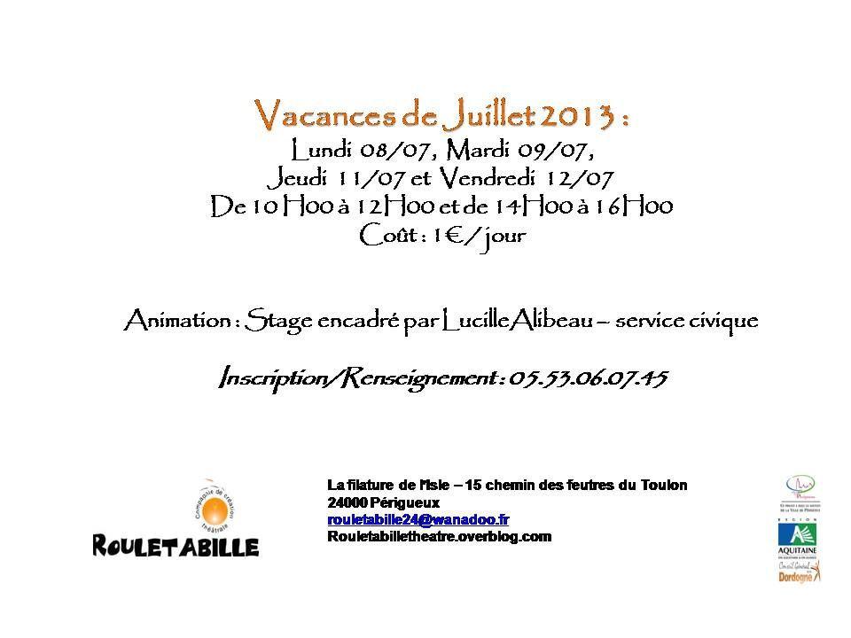Stage juillet 2013