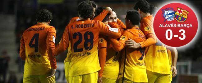 Football : Deportivo Alavés - FC BARCELONA 0-3 (0-1). Coupe du Roi. 1/16 de finale aller.