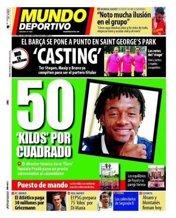 La Une de Mundo Deportivo aujourd'hui (29/07/2014) / La portada de Mundo Deportivo hoy (29/07/2014) / La portada de Mundo Deportivo avui (29/07/2014) / The today's Mundo Deportivo Cover (07/29/2014)