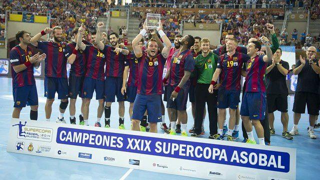 Handball : FC BARCELONA - Fraikin BM Granollers 32-28 (14-14). Supercoupe d'Espagne Asobal. Finale.