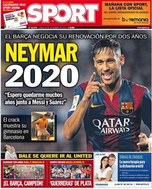 La Une de Sport aujourd'hui (22/12/2014) / La portada de Sport hoy (22/12/2014) / La portada de Sport avui (22/12/2014) / The today's Sport Cover (12/22/2014)