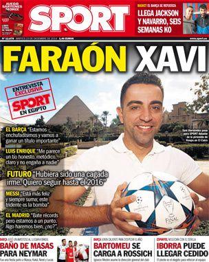 La Une de Sport aujourd'hui (23/12/2014) / La portada de Sport hoy (23/12/2014) / La portada de Sport avui (23/12/2014)  / The today's Sport Cover (12/23/2014)