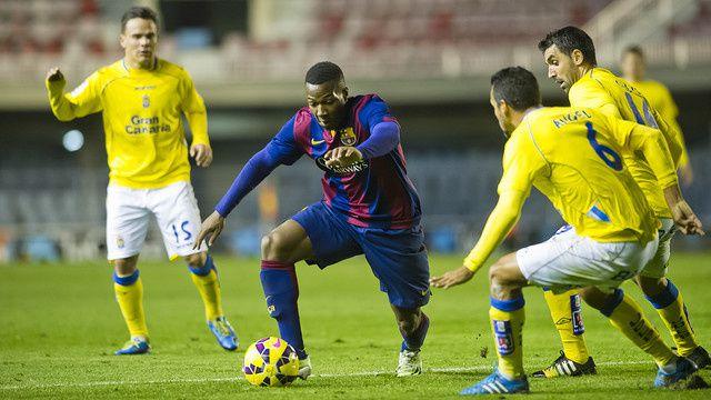 Football Barça B : FC BARCELONA B - UD Las Palmas 0-2 (0-1). Liga Adelante Segunda A. 19ème Journée.