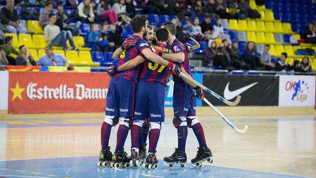 Rink-Hockey : FC BARCELONA - CP Vilafranca Capital del Vi 5-2 (2-0). OK Liga. 18ème journée.