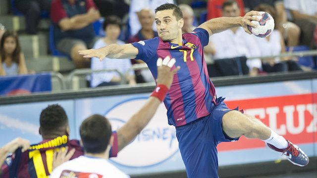 Handball : Kiril Lazarov prolonge son contrat pour deux ans avec le FC Barcelone. / Balonmano : Kiril Lazarov renueva dos años con el FC Barcelona. / Handbol : Kiril Lazarov renova dos anys amb el FC Barcelona. / Handball : Kiril Lazarov extends its contract for two years with FC Barcelona.