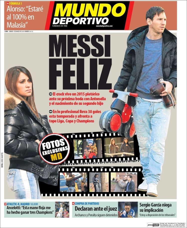 La Une de Mundo Deportivo aujourd'hui (07/03/2015) / La portada de Mundo Deportivo hoy (07/03/2015) / La portada de Mundo Deportivo avui (07/03/2015) / The today's Mundo Deportivo Cover (03/07/2015)