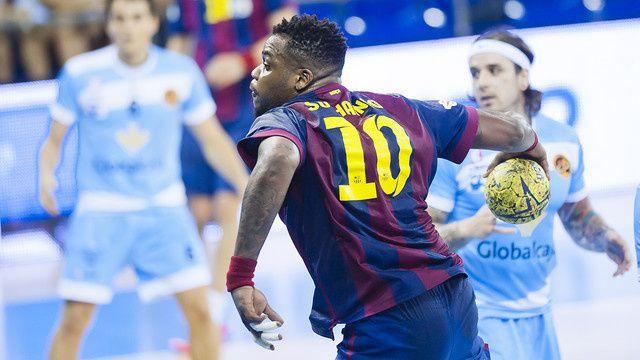 Handball : GlobalCaja BM Ciudad Encantada - FC BARCELONA 27-39 (13-19). Liga Asobal. 20ème journée.