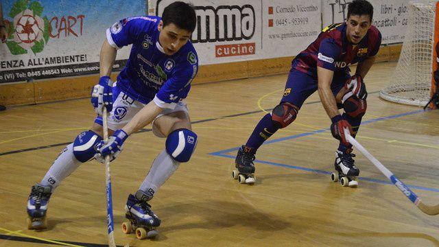 Rink-Hockey : Hockey Valdagno - FC BARCELONA 2-6 (1-3). Euroligue. 1/4 de Finale. Match Aller.