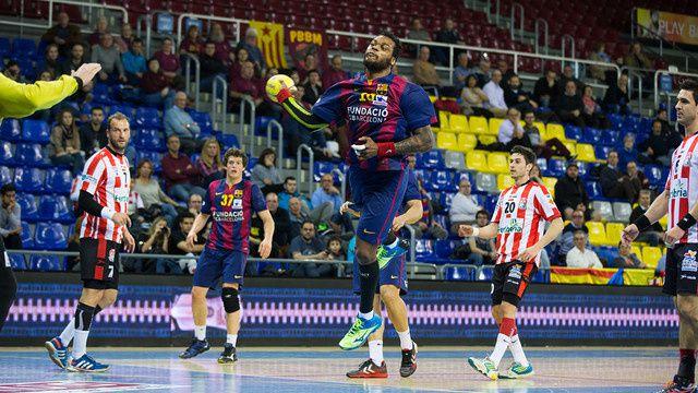 Handball : FC BARCELONA - Fertiberia BM Puerto Sagunto 51-29 (25-17). Liga Asobal. 21ème journée.