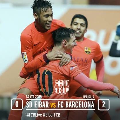 Football : SD Eibar - FC BARCELONA 0-2 (0-1). Liga BBVA. 27ème journée.