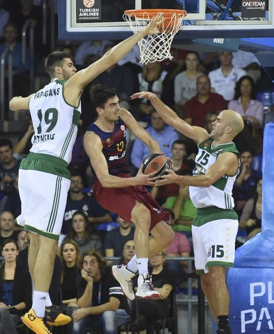 Basketball : FC BARCELONA LASSA - Panathinaikos 77-52 (42-28). Euroligue. Groupe C. 3ème Journée.