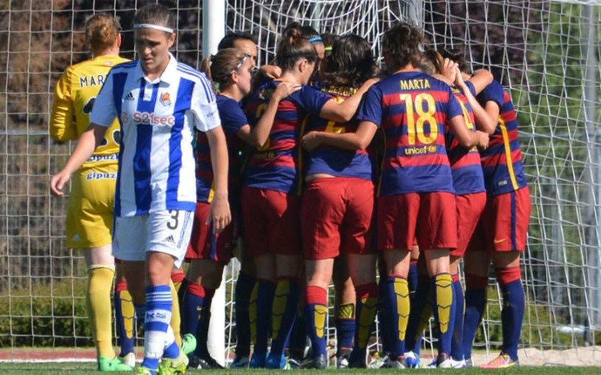 Football Féminin : Réal Sociedad - FC BARCELONA FEMININE 1-5 (0-3) Coupe de la Reine. 1/4 de Finale.