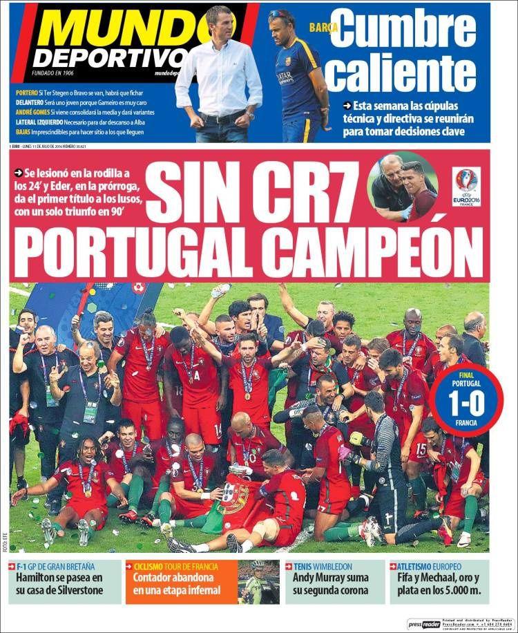 La Une de Mundo Deportivo aujourd'hui (11/07/2016) / La portada de Mundo Deportivo hoy (11/07/2016) / La portada de Mundo Deportivo avui (11/07/2016) / The today's Mundo Deportivo Cover (07/11/2016)