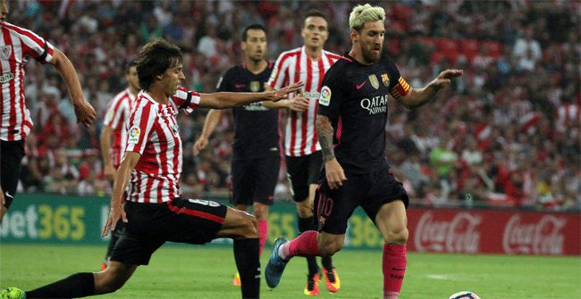 Football : Athletic Club - FC BARCELONA 0-1 (0-1). LaLiga Santander. 2ème Journée.