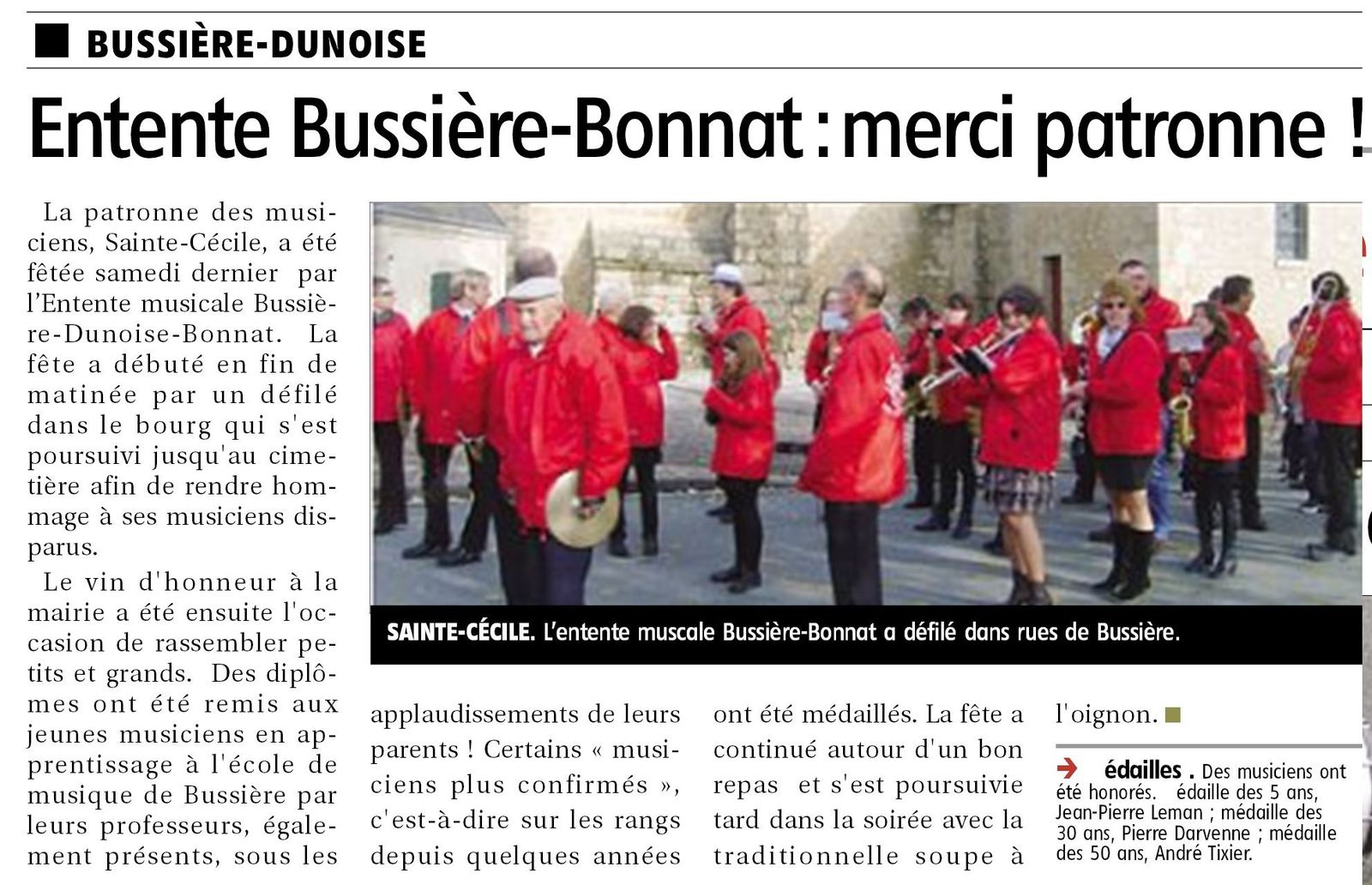 BUSSIERE-DUNOISE: