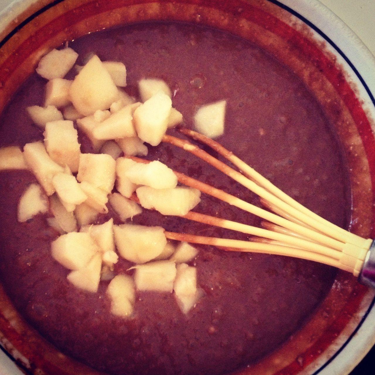 Recette : Gateau poires-chocolat