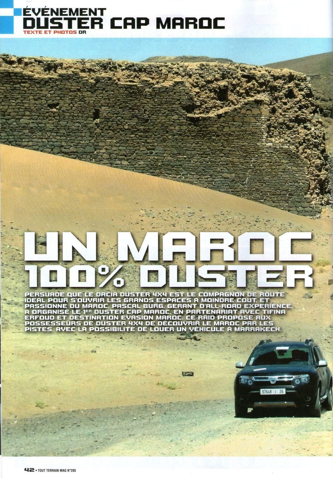 Le DUSTER CAP MAROC Tout-Terrain Magazine
