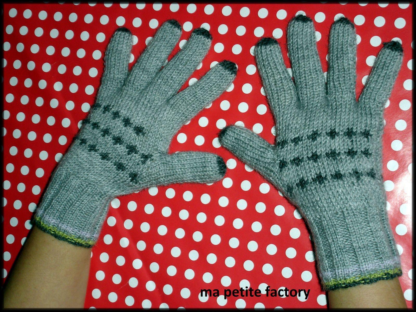 une série de doigts...