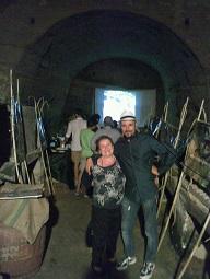 La sig.a Graziella e Pietro durante la visita della grotta