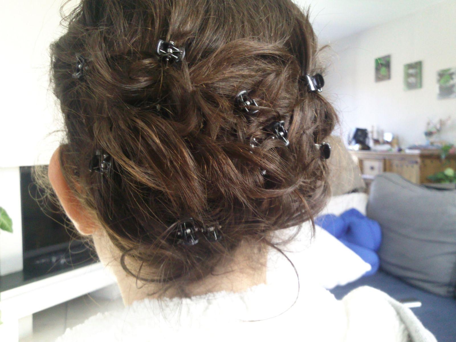 coiffure avec pince
