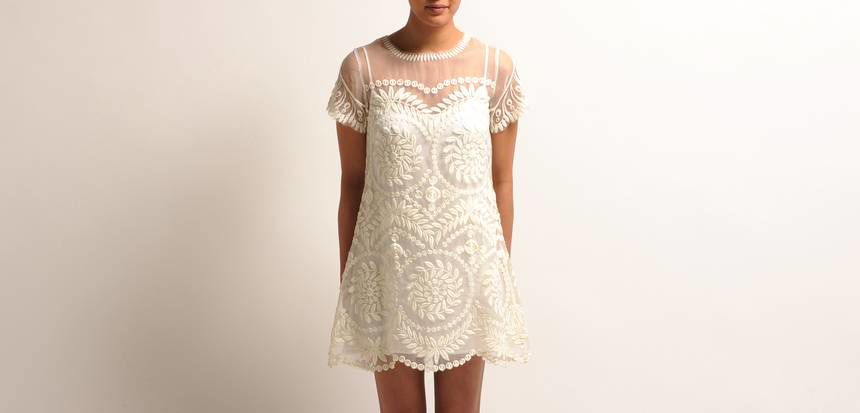 robe blanche maje 2013