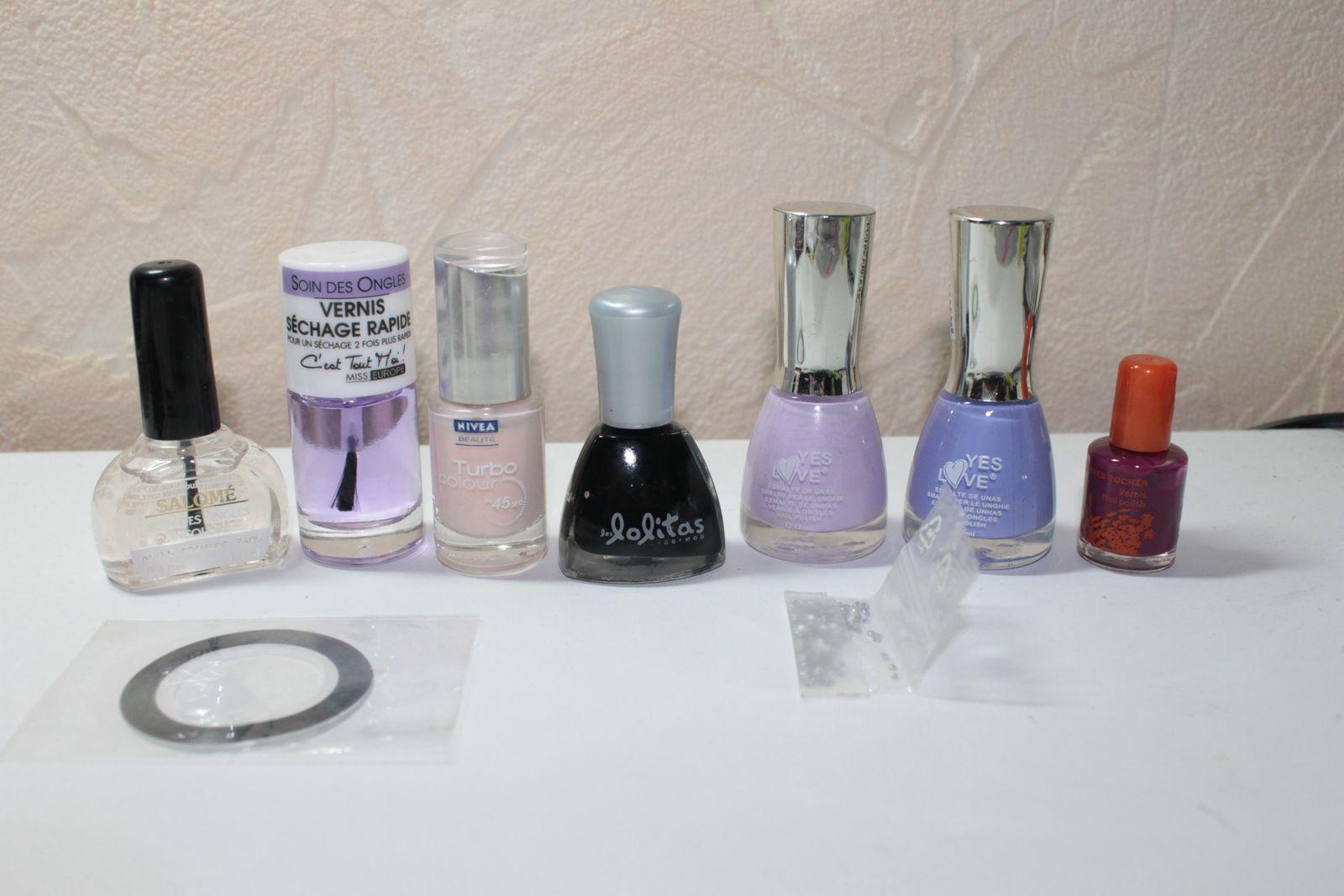 """Léopard Violet & concours """"Nail art-Vernis"""""""